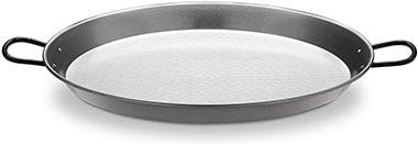 paellera de acero pulido para la cocción de arroces secos